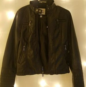 Maralyn & Me Hooded Leather Jacket